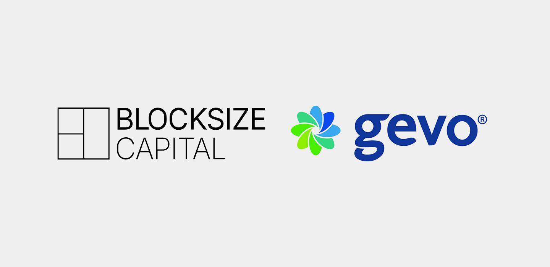 Logos Blocksize Capital and gevo